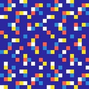8-bit Texture Primary on Navy