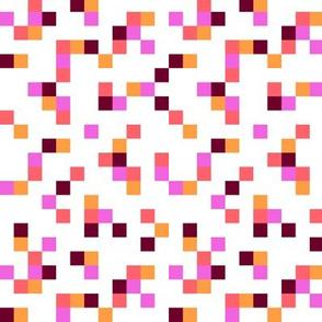 8-bit Texture Warm on White