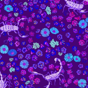 desert flowers and scorpions - purple