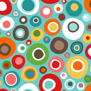 Colorful Mid Century Modern Wobbly Circle Bits