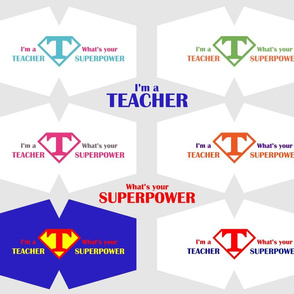 Teacher Superpower Face Masks  Cut Out panel