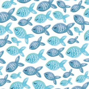 Fishy Business in Blue Coordinate