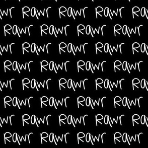 rawr XSM inverted :: marker doodles black and white monochrome typography