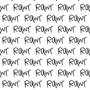 rawr XSM :: marker doodles black and white monochrome typography