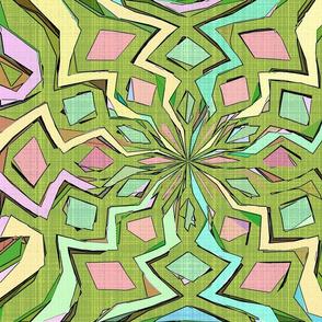 Geometric Color Block