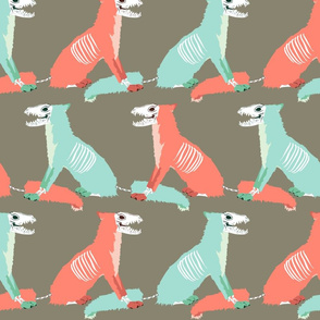 Coral and Mint Skull Foxes