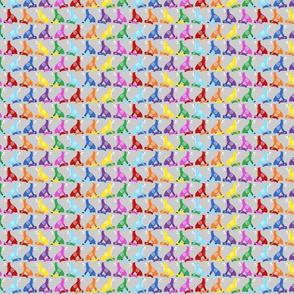 Tiny Silver Rainbow Skull Foxes