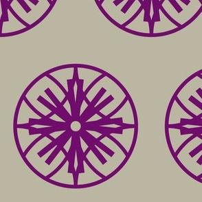 purple / taupe