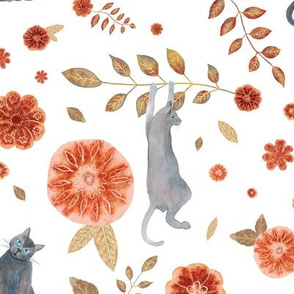 Cats and Florals