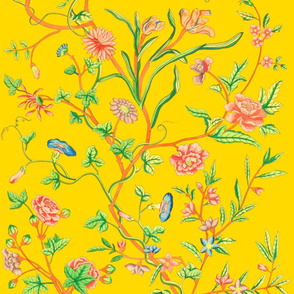 Tree of Life Chintz Reproduction ~ Very Bright on Grand Tour