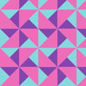 color block pinwheel girly