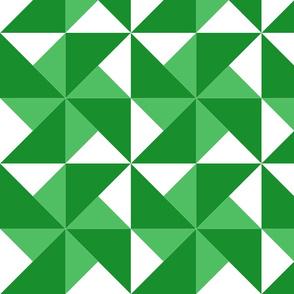 color block pinwheel just green