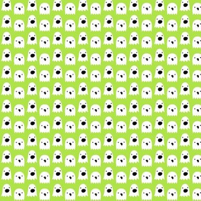 tiny ghosts on lime green » halloween