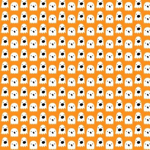 tiny ghosts on orange » halloween