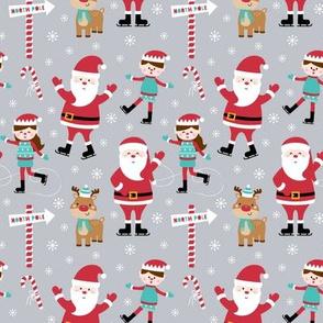 tiny ice skaters grey :: cheeky christmas