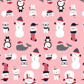 tiny snow cuties pink :: cheeky christmas