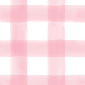 Pink Watercolor Check