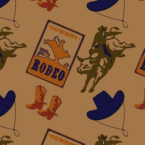 Cowboy Rodeo Bullriders