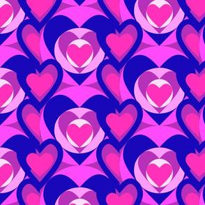 Color blocking pink hearts 5