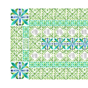 2020 Tiled Greens Calendar