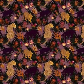 Jungle Cats at Dusk