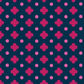 Clover and Dot in Fuchsia Pink Navy