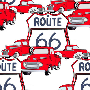 Red Trucks and Route 66