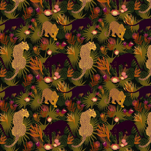 Jungle Cats in Olive