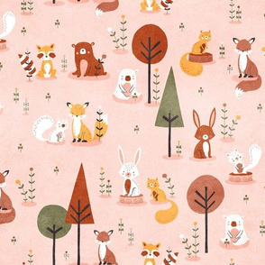 Woodland Fall in pink