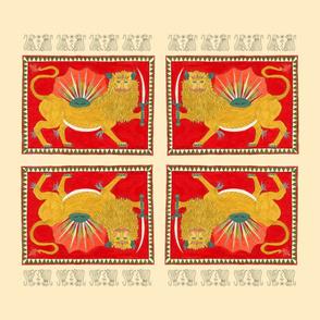 lunar lion scarf