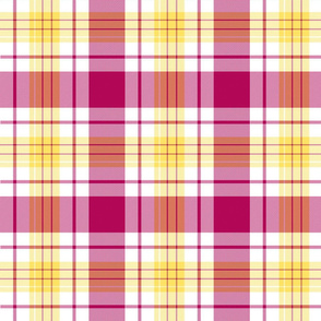Sunset Tartan Plaid | Pink & Yellow | Renee Davis