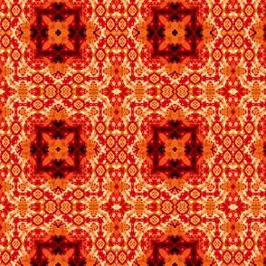 Rich Orange Intensity Squares