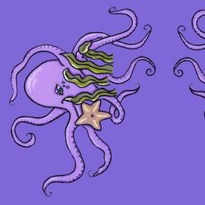 Octopus pillow- purple