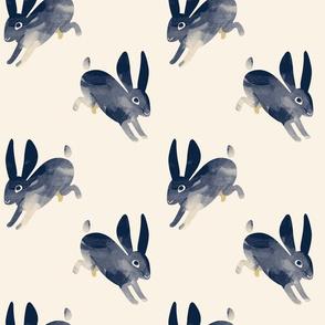 Shibori Rabbit navy by Mount Vic and Me