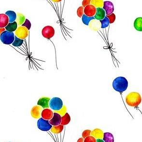 colorfull watercolor balloons
