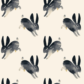 Shibori Rabbit black 6 by Mount Vic and Me
