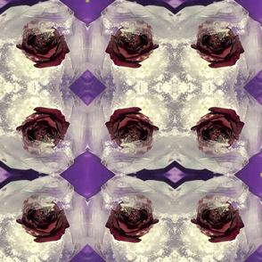 blood roses in ice purple kaleidoscope large size