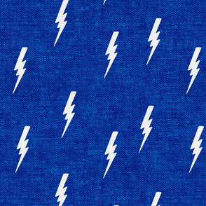 bolts on blue woven - C19BS