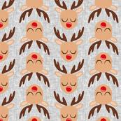 Reindeer - Rudolph - grey - Holiday fabric - LAD19