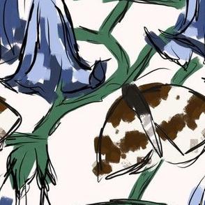 Brugmansia and Moths cream