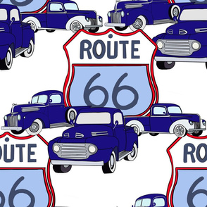 BLUE TRUCKS ON ROUTE  66