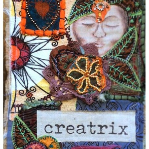 Creatrix Collage Fibre Art Print Panel
