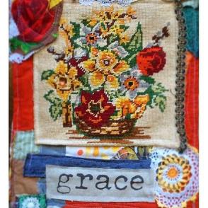 Grace Collage Fibre Art Print Panel