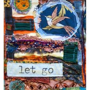 Let Go Fibre Art Collage Print Panel