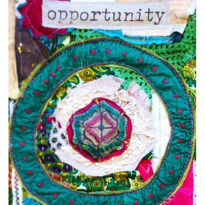 Opportunity Fibre Art Collage Panel