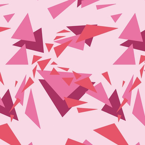 modern pink shapes - triangles