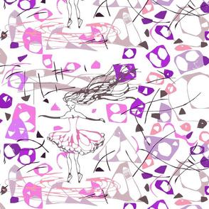 modern art ballerina on crystals