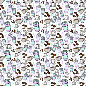 Retro coffee - kawaii