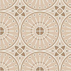 Elegant Round Tiles Nude Sand
