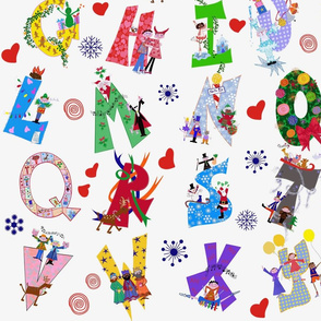 Christmas and Alphabet and Xmas and Colorful and Designs